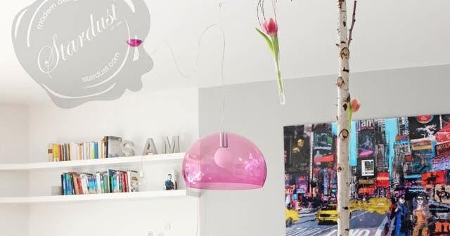 Kartell Fly Pink Pendant Light