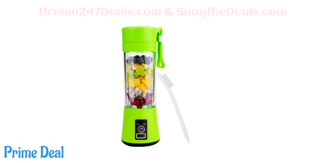 40%OFF Portable Blender Mixer Juicer Machines-Six SUS304 Blade, 13oz Handheld Mini Extractor, 2000mAh USB Rechargeable Battery, Detachable Cup, Perfect for Home Travel Use(GREEN)