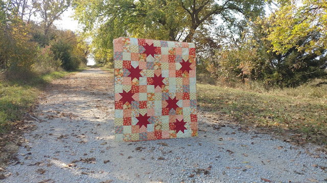 Fall quilt with stars