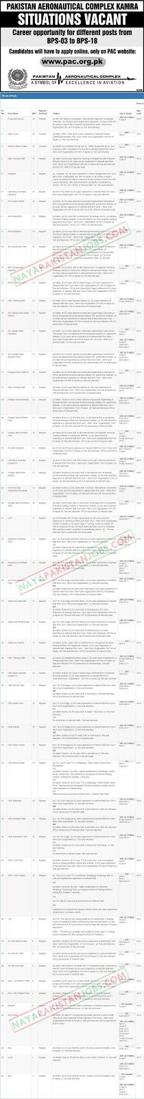 PAC KAMRA Jobs, PAC Kamra latest jobs announced, apply online for pac kamra jobs , pac kamra jobs pac.org.pk