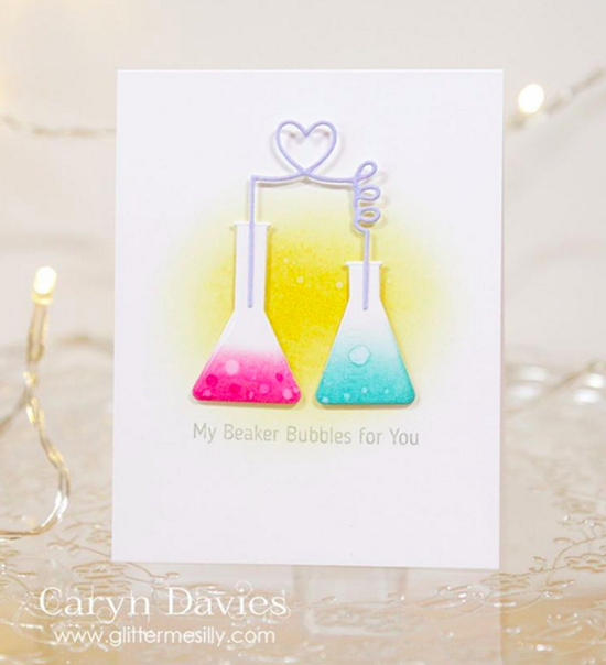 Laina Lamb Design Undeniable Chemistry stamp set and Chemistry Set Die-namics - Caryn Davies #mftstamps