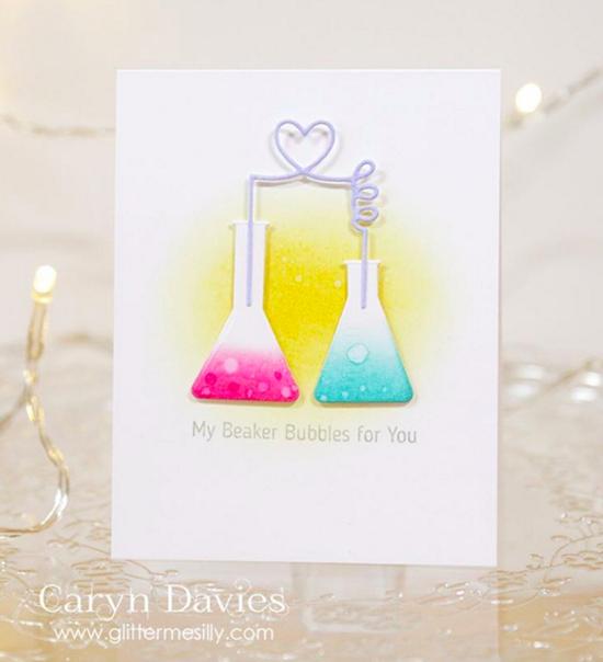 Laina Lamb Design Undeniable Chemistry stamp set and Chemistry Set Die-namics - Caryn Davies #mftstamps
