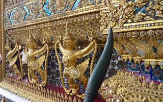 Gran Palacio Real de Bangkok. Wat Phra Kaew o Templo del Buda Esmeralda.