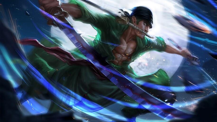 Zoro, Katana, 3 Sword Style, One Piece, 4K, #6.52