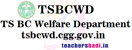 tsbcwd.cgg.gov.in, TS BC Welfare Department,Website
