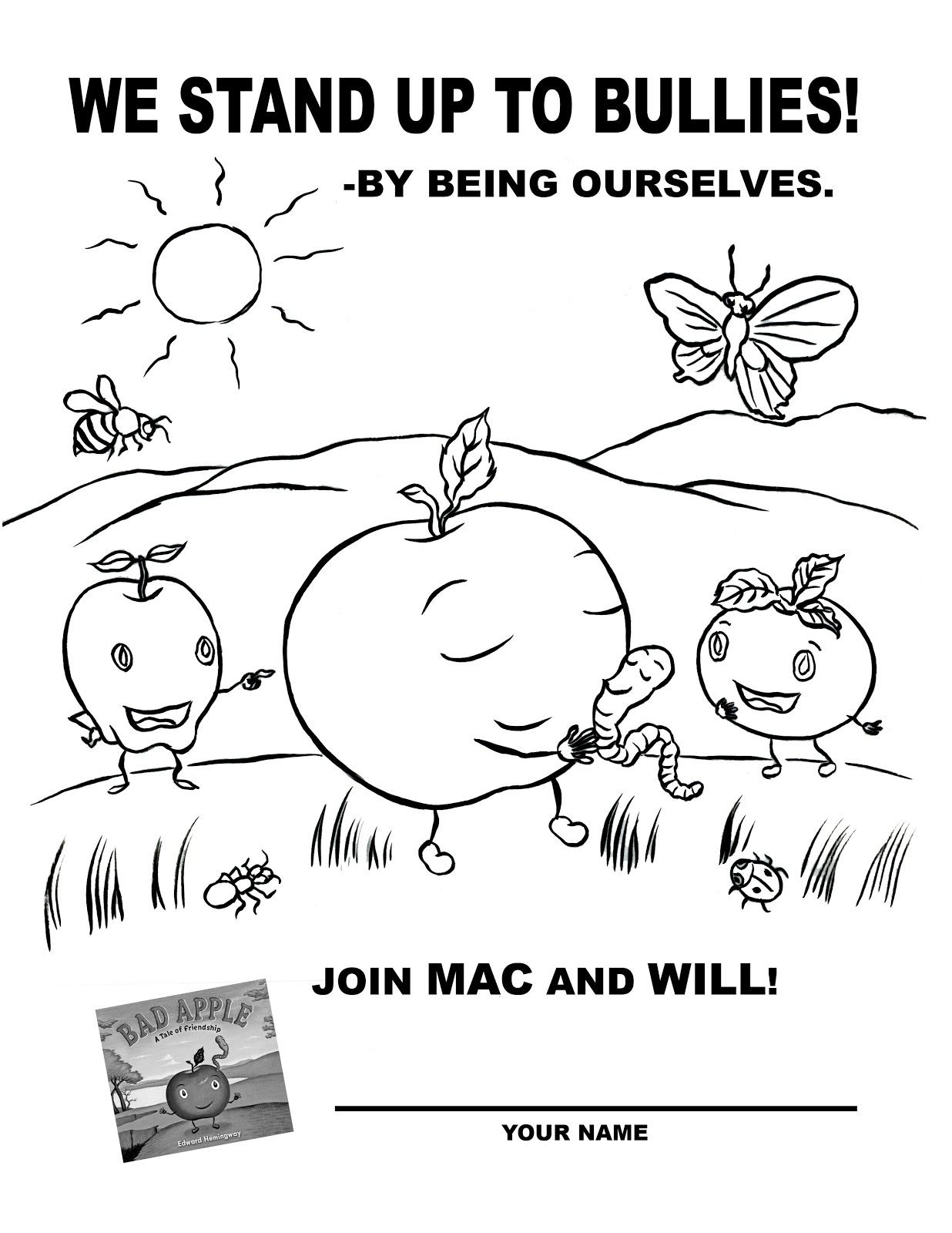 Bullying Awareness Coloring Worksheet Coloring Pages