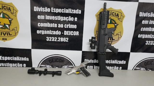 """Polícia Civil apreende armas de fogo na Operação """"O Senhor das armas"""""""