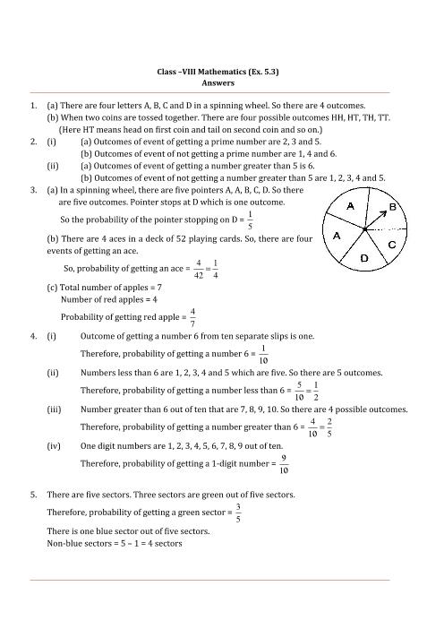 NCERT Solutions for Class 8 Maths Chapter 5 Data Handling