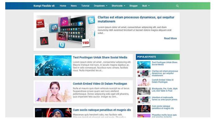 Kompi Flexible Premium Blogger Template - Kompi Ajaib