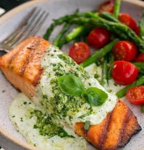 Salmon with Pesto Recipe