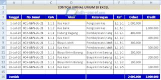adh-excel.com Jurnal untuk Buku Besar Excel