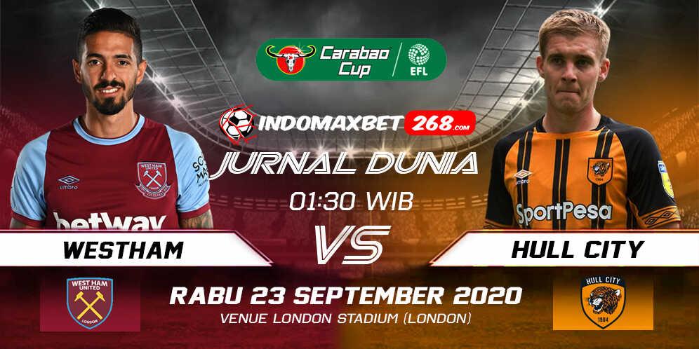 Prediksi West Ham United vs Hull City 23 September 2020 Pukul 01:30 WIB