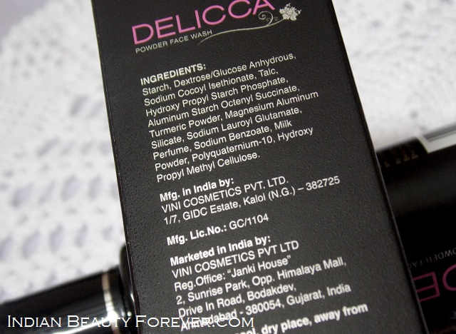 Delicca Powder face wash review