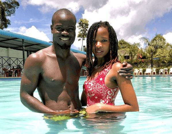 David Oyando alias Mulamwah with his girlfriend Caroline Muthoni, aka Carrol Sonie Photo