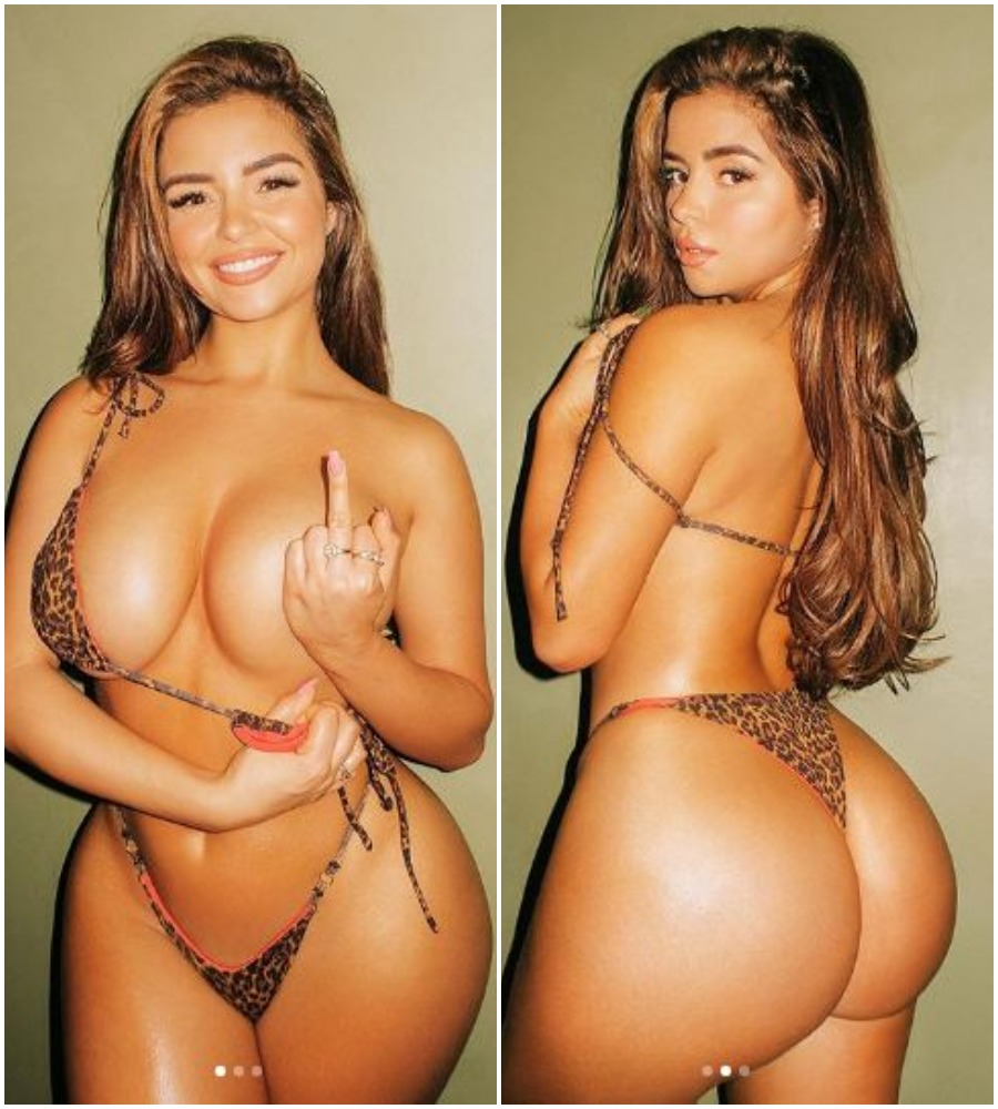 Demi Rose displays her jaw-dropping curves