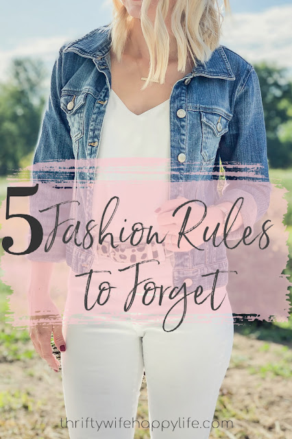 5 Fashion Rules to Forget