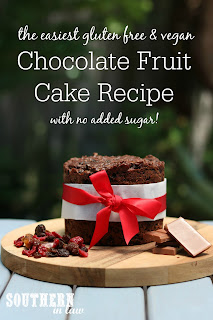 4 Ingredient Chocolate Fruit Cake Recipe Gluten Free