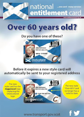 National Entitlement Card Poster for Over 60's Transport Scotland June 20016