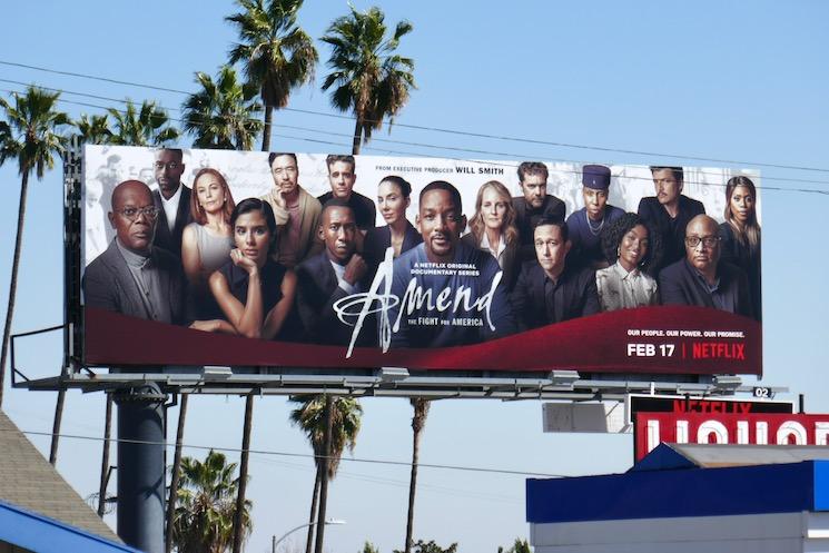 Amend Fight for America Netflix billboard