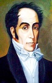 Dibujo de Simón Bolivar a colores