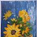 Basket of Sunflower   Impasto   Lukisan Acrylic #27