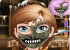 Frozen Anna Halloween Face Art