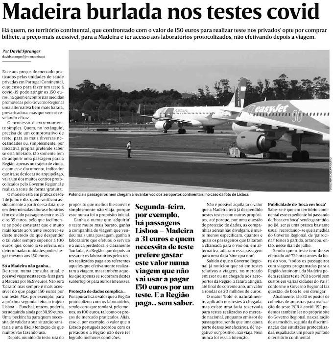 Contribuintes da Madeira burlados por culpa de incompetentes do GR