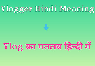 Vlogger hindi meaning