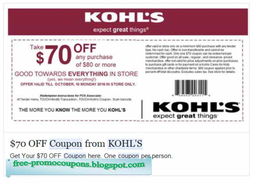Kohls february coupons