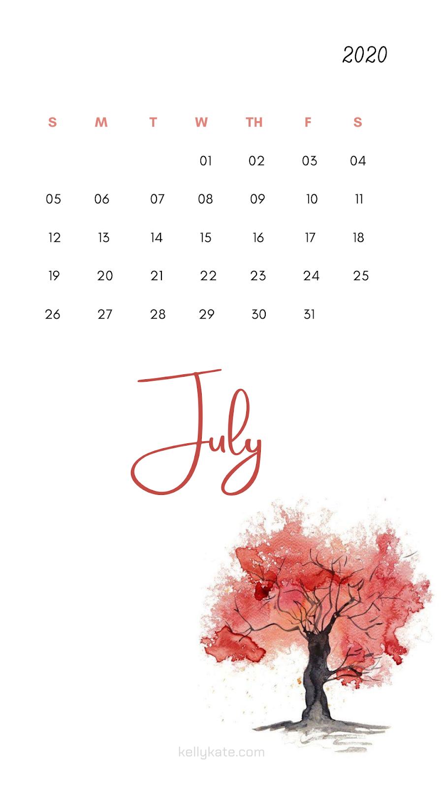 wallpaper en calendario 2020
