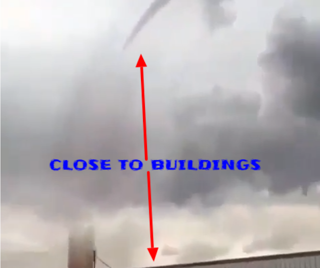 Sideways tornado opens up and a guy just wants to stand and film it in front of him.