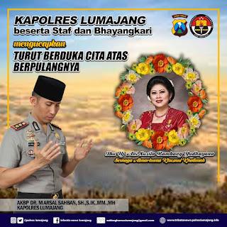 Cara Kapolres Ucapkan Duka Untuk Almarhumah Ibu Ani Yudhoyono