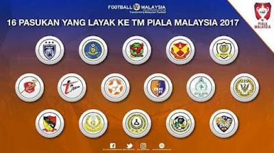 Senarai Pasukan Yang Layak Ke Piala Malaysia 2017