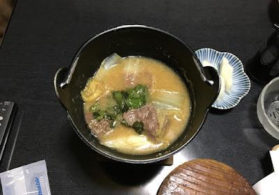 力休の夕食 しし鍋