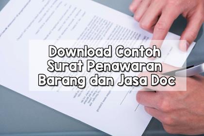 Download Contoh Surat Penawaran Barang dan Jasa Doc