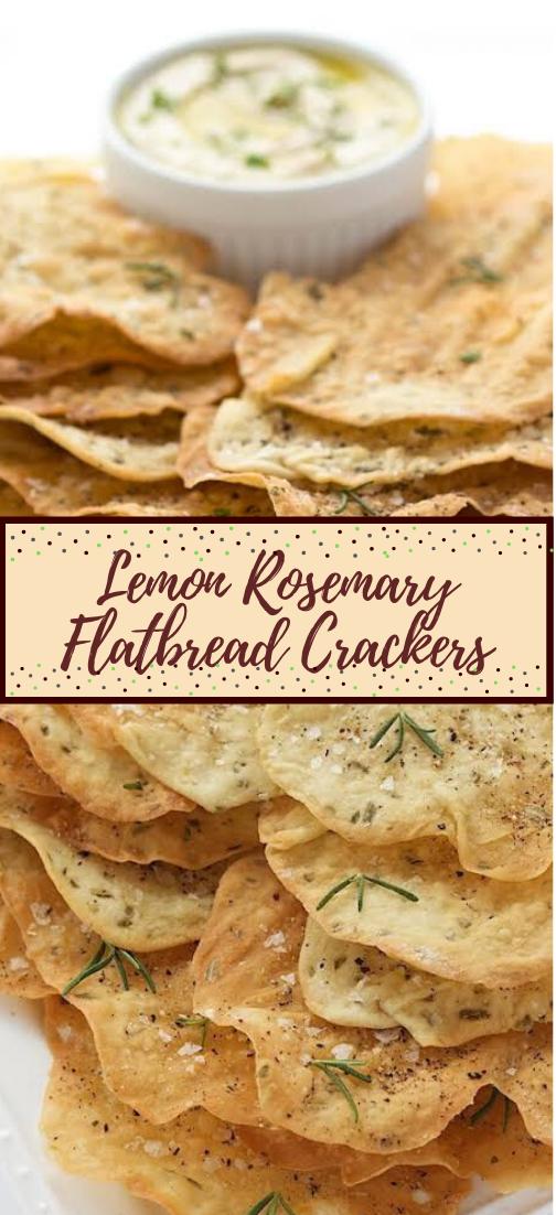 Lemon Rosemary Flatbread Crackers #healthyfood #dietketo #breakfast #food
