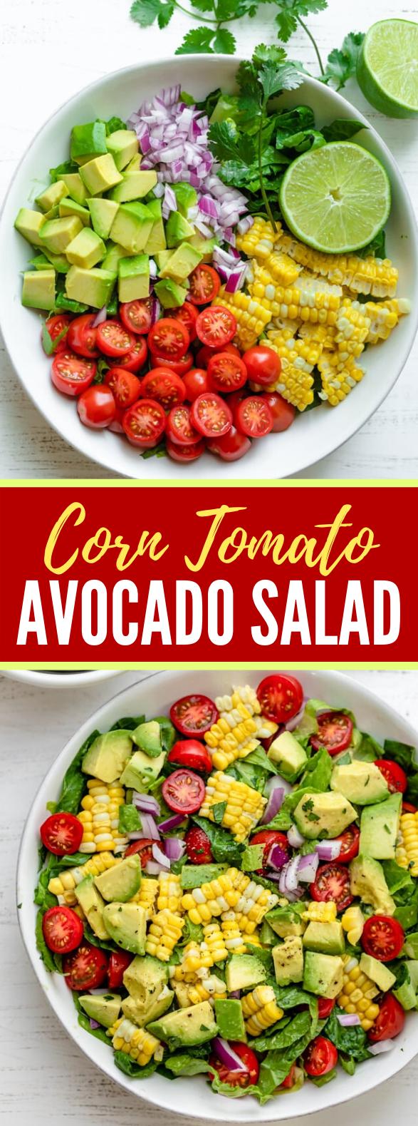 Corn Tomato Avocado Salad #vegan #ketofriendly