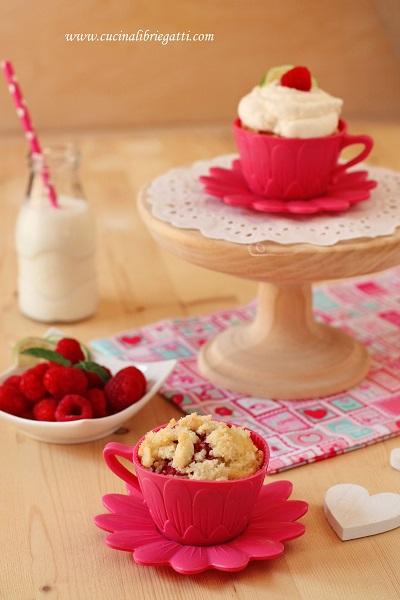 cupcake lamponi crumble cocco
