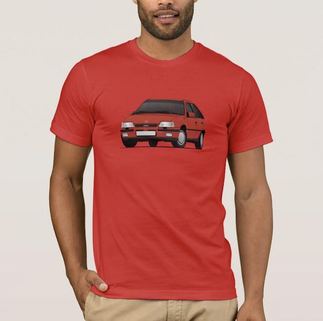 Retro Opel Kadett E GSi 16V - 80's classic car T-shirts