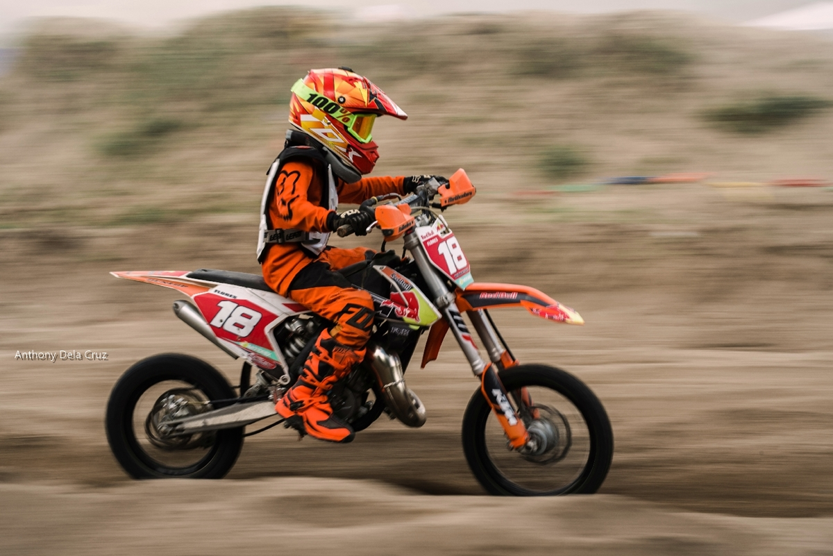 A young motocross rider impressed spectators of the Motocross Competition of Seslong Festival 2018.