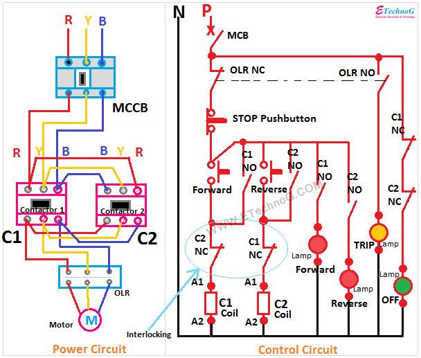 Motor Control Forward Reverse power control circuit