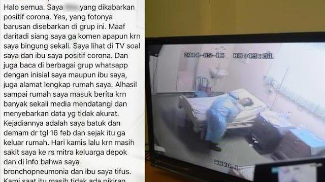 Pasien Sembuh Corona Cerita Sambil Bercucuran Air Mata saat Berada di Ruang Isolasi: Jangan Sampai Disini
