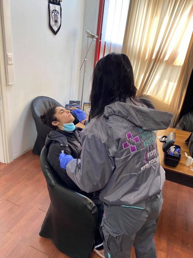 Σκληρή δουλειά και covid τεστ για το γυναικείο του ΠΑΟΚ-Φωτορεπορτάζ