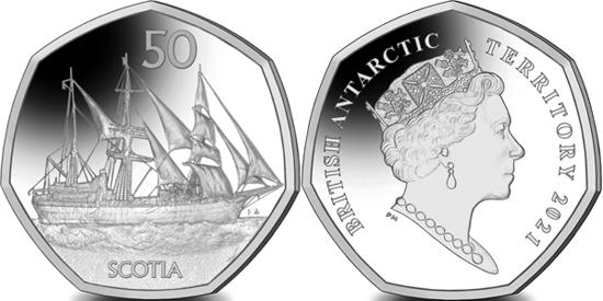 British Antarctic Territory 50 pence 2021 - Scotia
