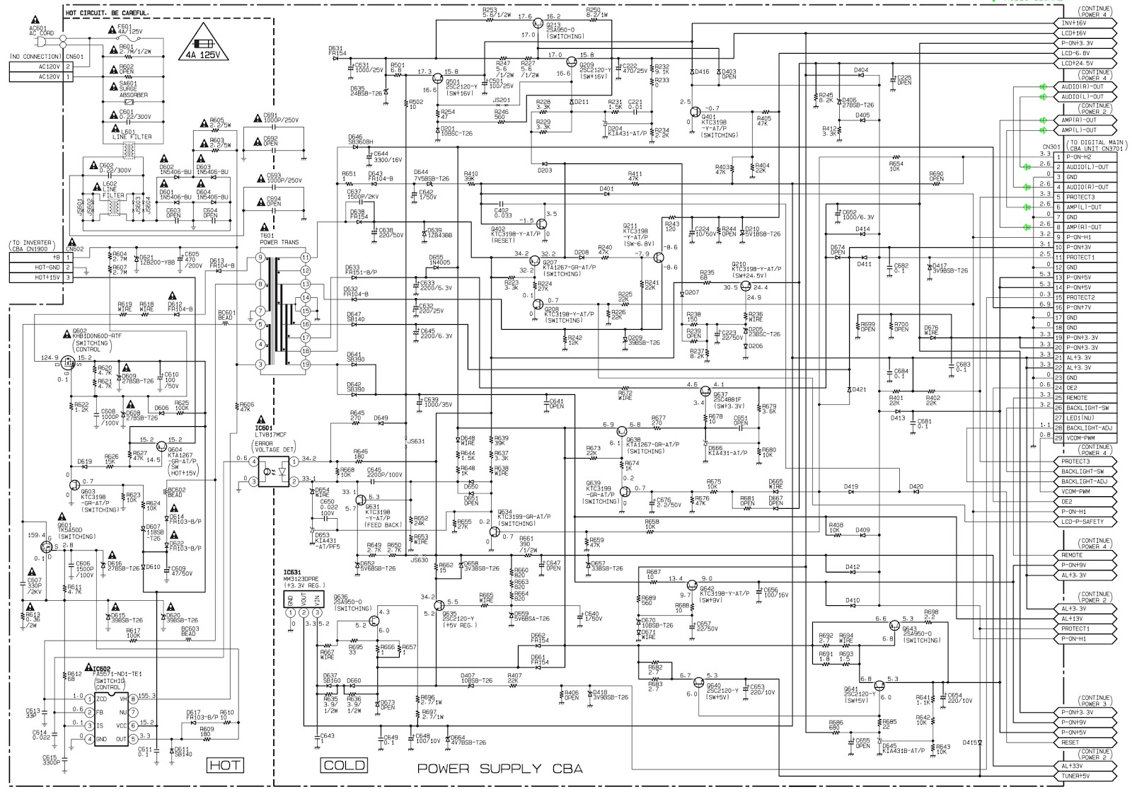 Master Electronics Repair !: PHILIPS 32PFL3505D/F7 (SERIAL