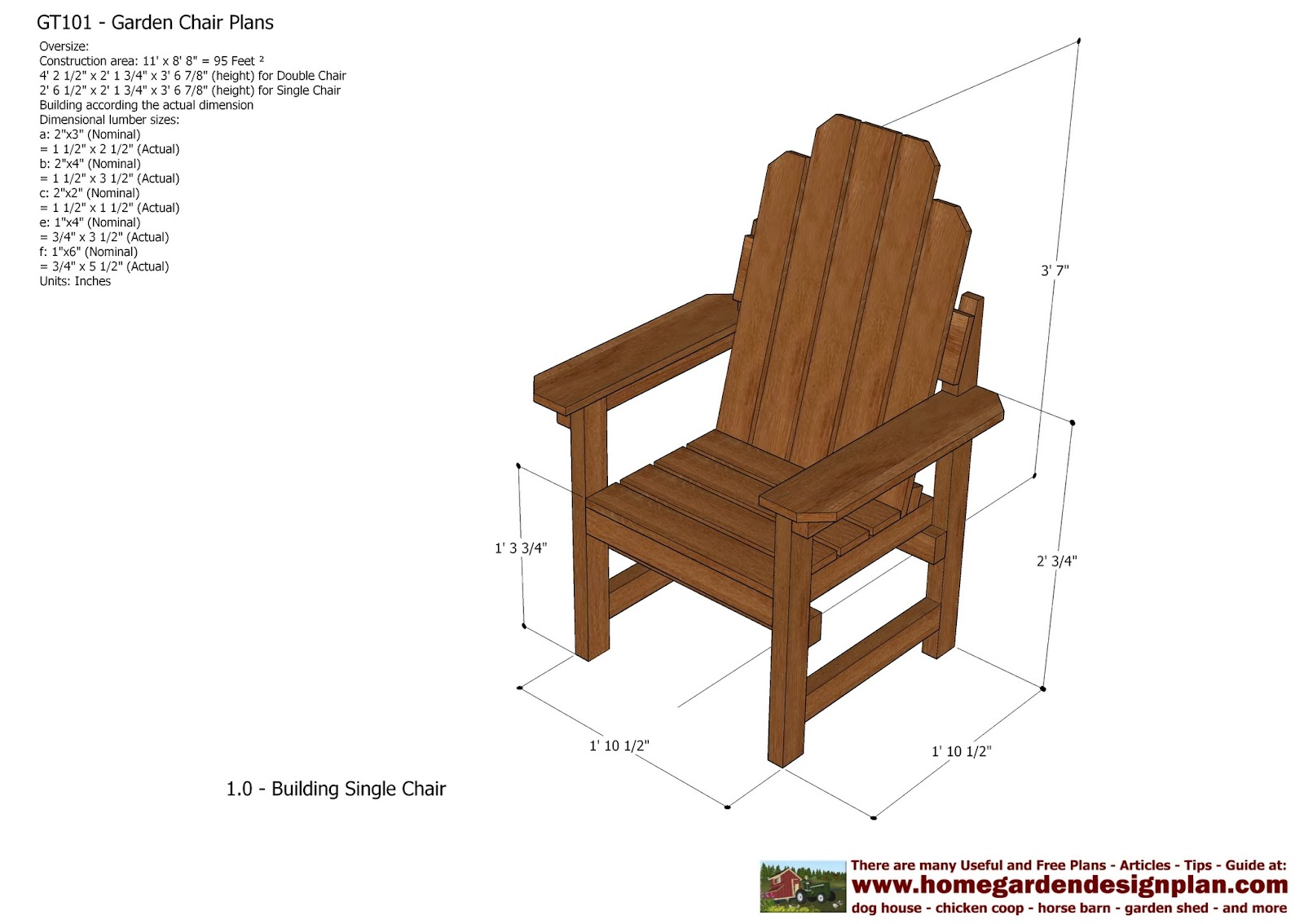 plans for wooden outdoor chairs | Quick Woodworking Projects