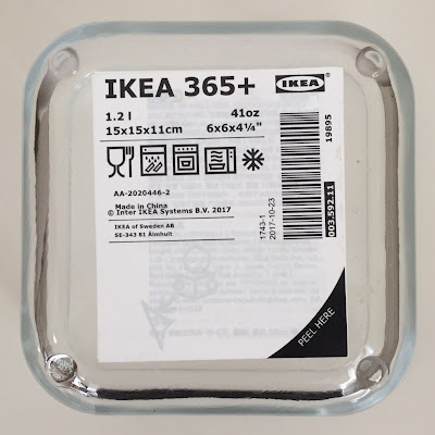 イケア,ikea,IKEA365+ 保存容器1.2l 正方形/ガラス
