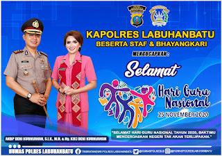 "AKBP Deni Kurniawan SiK, MH  Mengucapkan ""Selamat Hari Guru Nasional 2020"""