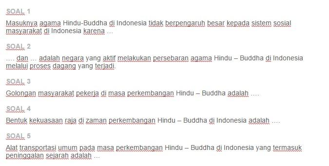Contoh Soal Sistem Pemerintahan Sosial Ekonomi Dan Kebudayaan Masyarakat Indonesia Pada Masa