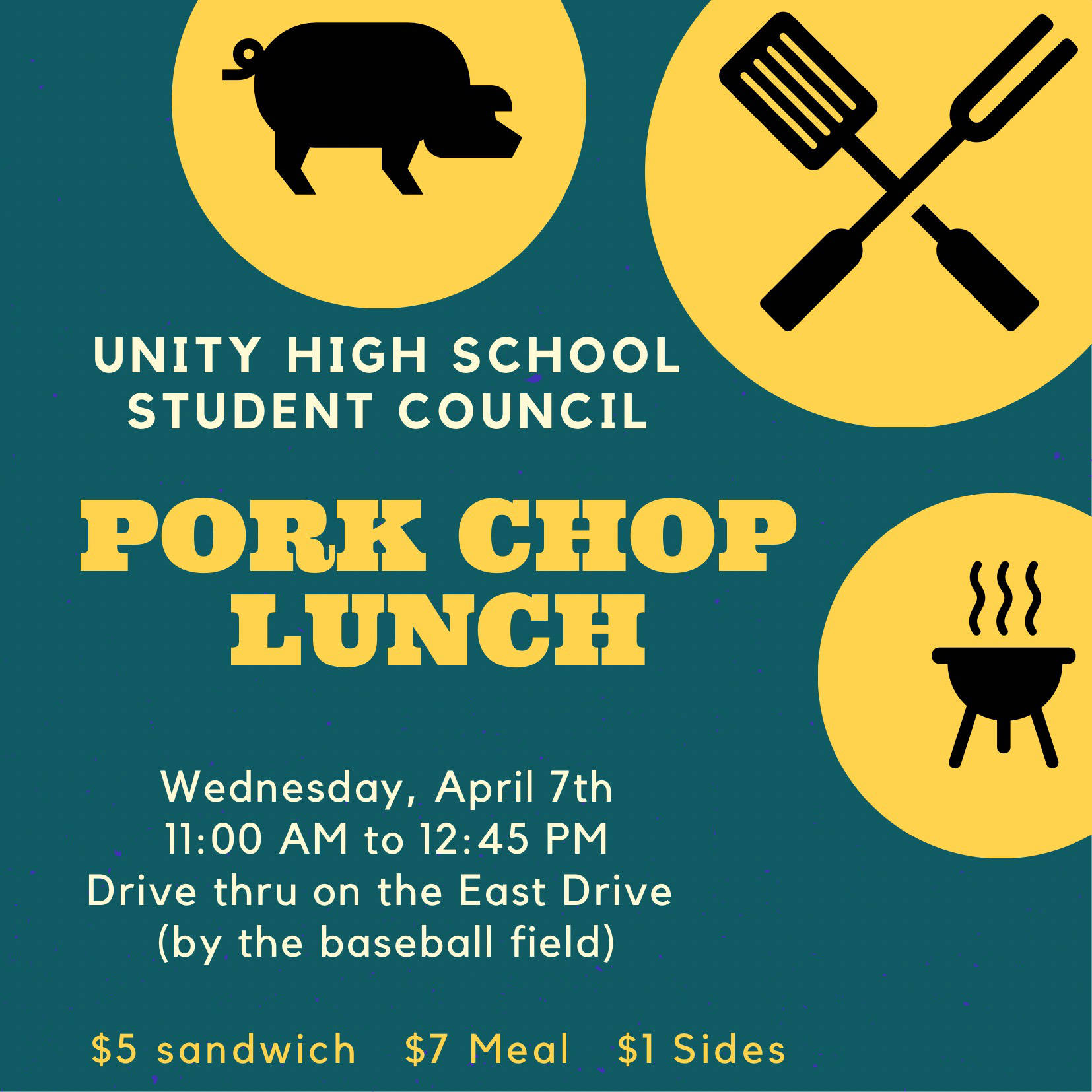 Unity Student Council to host pork chop lunch